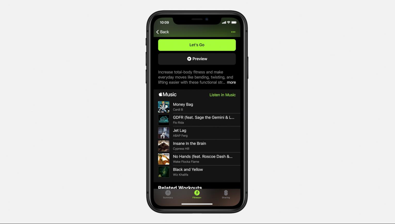 Apple fitness plus ekranı
