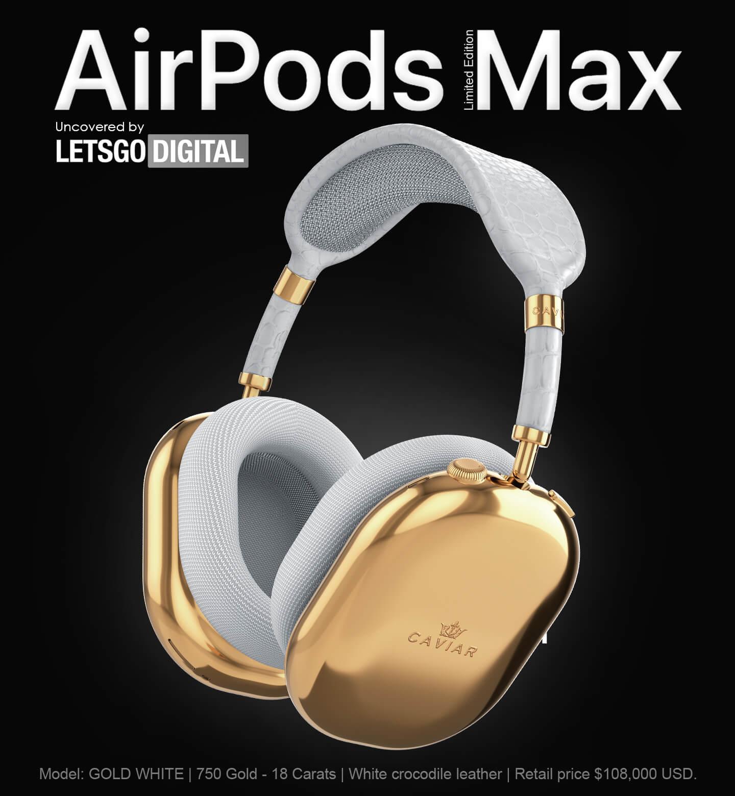 Altın kaplama AirPods Max - APPLE DÜNYAM